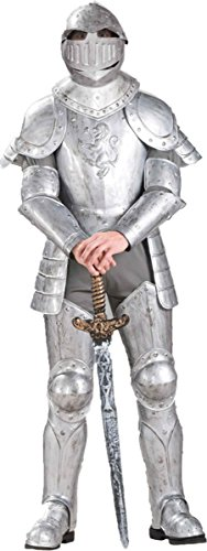 [Knight in Shining Armor Costume - Standard - Chest Size up to 42] (Adult Knight To Remember Costumes)