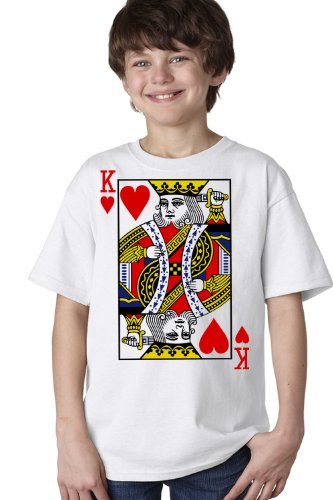 KING OF HEARTS Youth T-shirt / Card Costume Tee Shirt, Magic Trick Tee