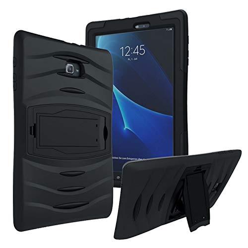 Samsung Galaxy Tab E 9.6  SM T560 Shockproof Heavy Duty Military Armor Hybrid Case Cover Black by KIQ  TM