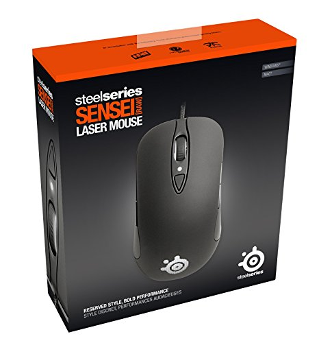 48737a51e3d SteelSeries Sensei Laser Gaming Mouse RAW - Rubberized Black - Buy ...