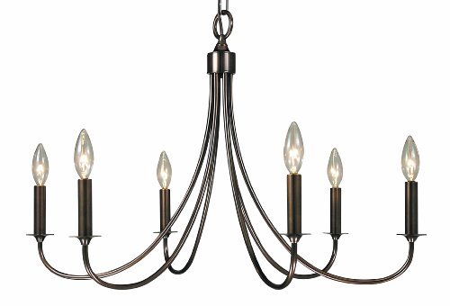 Framburg 1006 RB Maisonette 6-Light Chandelier, Roman Bronze - Roman Bronze Hanging