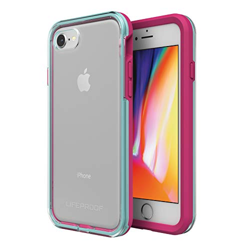 Lifeproof SLAM Series Case for iPhone 8 & 7 (ONLY) - Retail Packaging - Aloha Sunset (Clear/Blue Tint/Process Magenta)
