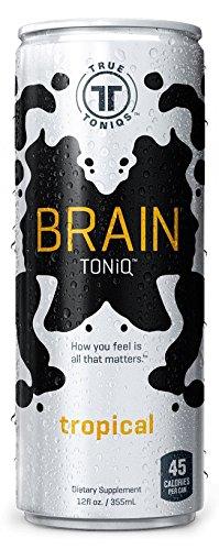 True Toniqs, Brain Toniq, Single, Tropical, Pack of 12, Size - 12 FZ, Quantity - 1 Case