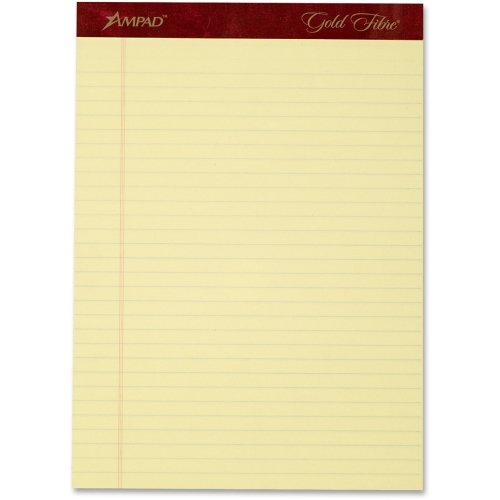 TOPS Gold Fibre Premium Rule Writing Pads - 50 Sheet - 20 lb - Legal/Wide Ruled - Letter 8.50