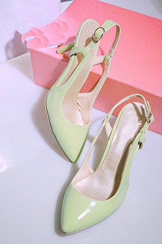 Aisun Kvinners Trendy Spisse Tå Strappy Spenne Kjole Kattunge Hæler Sandaler Grønne