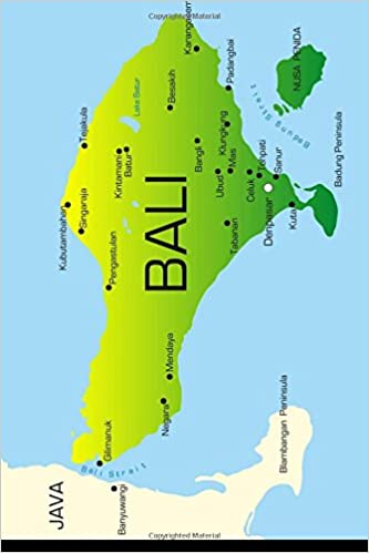 Map of Bali Journal: 150 page lined notebook/diary: Cool ...