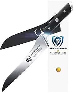 Dalstrong Dentado Offset pan & Deli cuchillo - Gladiador serie-8