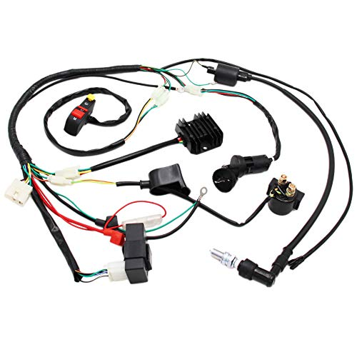 Complete Electrics Wiring Harness D8EA Spark Plug CDI Ignition Coil Kits For Chinese Dirt Bike 150cc 200cc 250cc Zongshen -