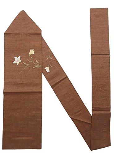 アルバニーまともなやけどリサイクル 名古屋帯 夏物 桔梗の花模様 正絹