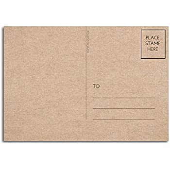 4x6 postcards with mailing side 50 pack blank plain kraft home advantage