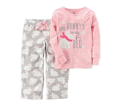 Carter's Baby Girls' 12 Months-8 2 Piece Bunny Fleece Pajamas (Bunny Pj)