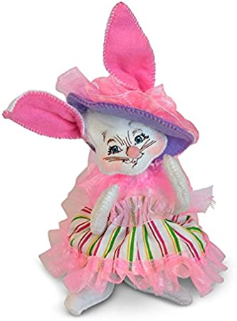 decortive ester ccents easter rabbit decor bunny.htm amazon com annalee 6in easter parade girl bunny home   kitchen  annalee 6in easter parade girl bunny