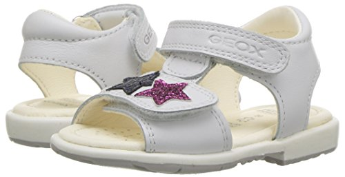 Pictures of Geox Girls' VERRED 16 Sandal White/Multicolor B8221B085BNC0653 4