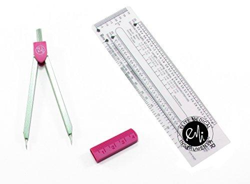 EMI Basics PINK Economy EKG Caliper and EKG Ruler EKR-203