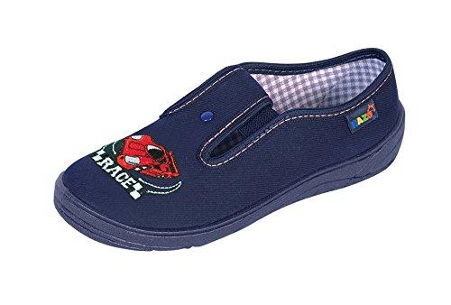 Nazo - Zapatillas de estar por casa para niño AD Dunkelblau Rot-Race