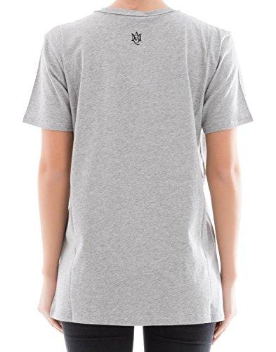 Alexander McQueen Femme 507119QKZ080902 Gris Coton T-Shirt