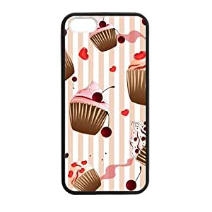 Cake Love Case for iPhone 5 5s protective Durable black case