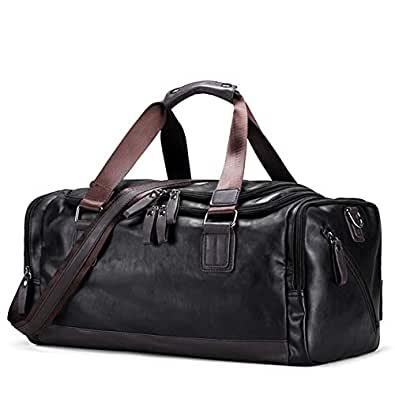 SODIAL Vintage Handbags Men's Casual Tote for Men Large-Capacity Portable Shoulder Bags Men's Fashion Travel Bags Package Black
