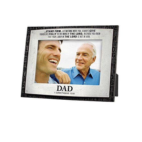Lighthouse Christian Products Badge of Faith Dad Frame, 4 x 6'' by Lighthouse Christian Products
