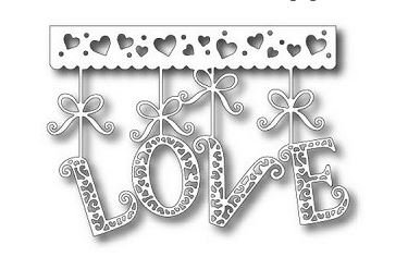 Tutti Designs Hanging Love Cutting Die TUTT195