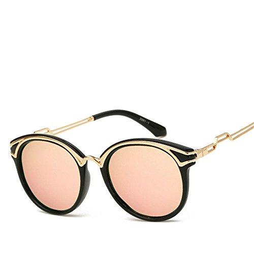 Chahua Haut brillant élégant rétro lunettes de soleil Lunettes de soleil Lunettes de soleil, mode haute brillance métallique brillant verres C