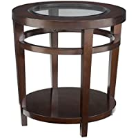Hammary End Table in Dark Merlot Finish