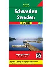 Schweden, Autokarte 1:600.000, freytag & berndt Auto + Freizeitkarten