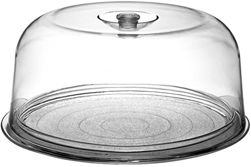 Knobs Acrylic Dome (Bormioli Rocco Ginevra Cake Platter With Plastic Dome, Gift Boxed)
