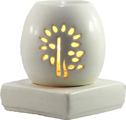 Brahmz Ceramic Electric Aroma Oil Burner Electric Oval Diffuser for ...
