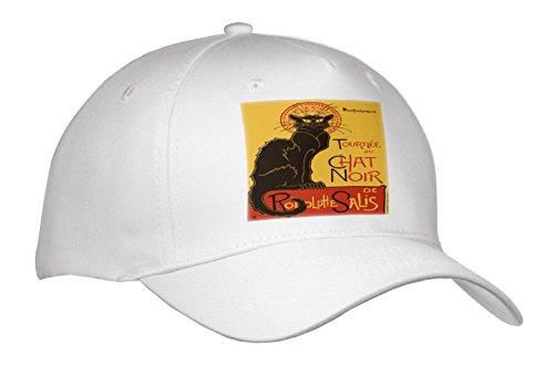 Noir Vintage Hat - 3dRose Taiche - Vector - Vintage Advertising - Tournee Du Chat Noir De rodolphe salis Vector - Caps - Adult Baseball Cap (Cap_273598_1)