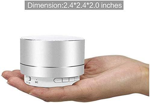 Bluetooth-Verbindungsbereich und Sprachf/ührung f/ür Android iOS PC und andere-N34 Tragbarer Bluetooth-Lautsprecher mit leistungsstarken B/ässen