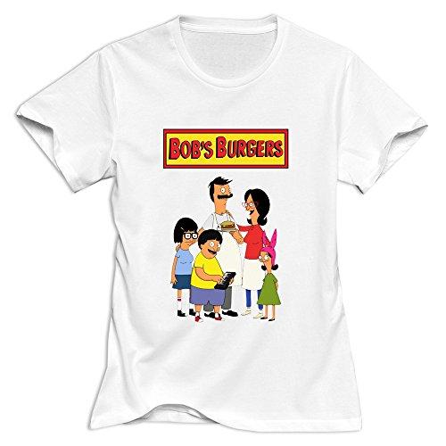 Women Bob's Burgers Logo 100% Cotton T-Shirt White US Size XL \r\nNew Arrival By Xuruw ()