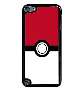 Pokeball Black Hardshell Case for iPod Touch 5G iTouch 5th Generation