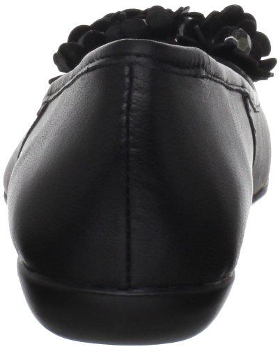 Bella Vita Kvinnor Mae Balett Platt Svart Läder