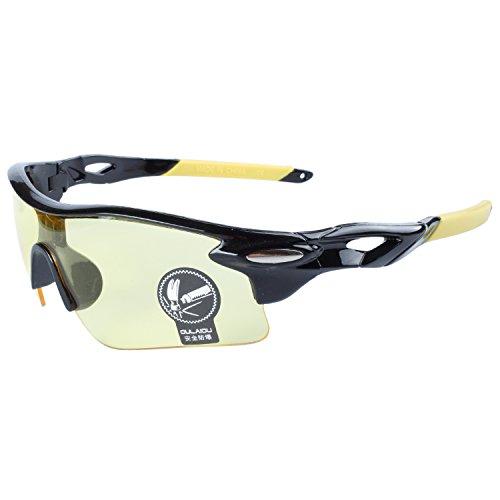 Gafas Sol Negro Aire Lentes Ciclismo Bicicleta Gafas Moda Pesca Deportes Gafas Montatura De De Al ANVEY Amarillo Conducción Para Libre Amarillo xZa6tw