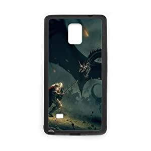 Samsung Galaxy Note 4 Cell Phone Case Black wings dragons lord of the rings illust art JSK632029