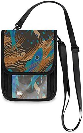 トラベルウォレット ミニ ネックポーチトラベルポーチ ポータブル 水中世界の魚 小さな財布 斜めのパッケージ 首ひも調節可能 ネックポーチ スキミング防止 男女兼用 トラベルポーチ カードケース