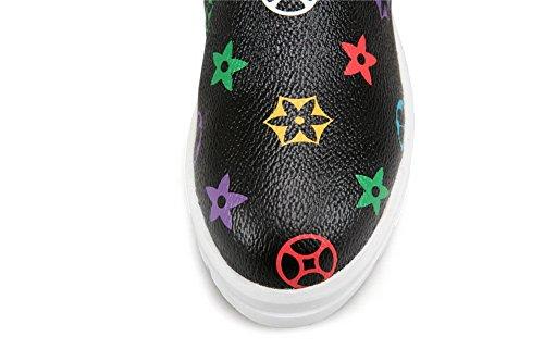 Plate-forme De Balamasa Femmes Bout Rond Orteils Assortis Couleur Uréthane Chaussures Noir
