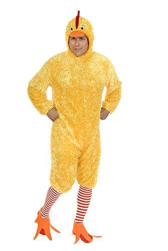 Charades Unisex-Adult's Funky Chicken, Yellow, Small