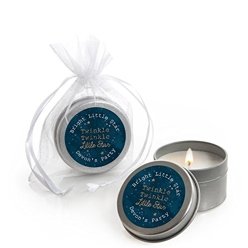 Custom Twinkle Twinkle Little Star - Personalized Candle Tin Baby Shower Favors - Set of - Baby Shower Personalized Favors Candle