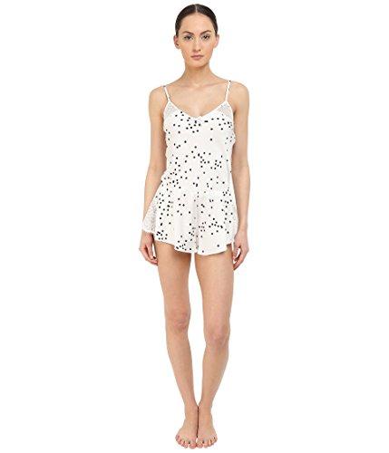 Kate Spade New York Women's Charmeuse Teddy, Bridal Dot Off-White, LG ()
