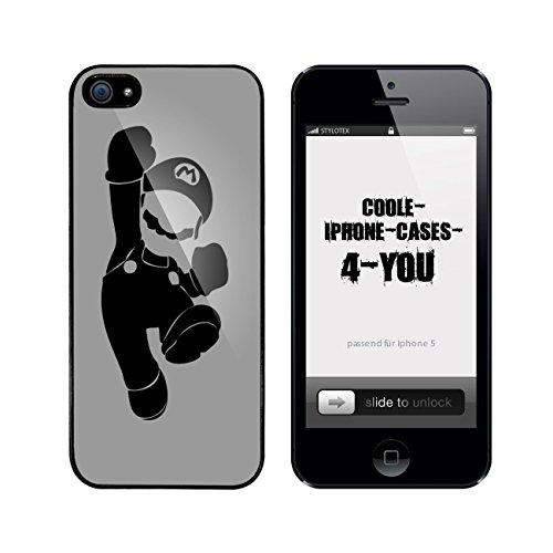 Iphone 5 / 5S Schutzhülle Mr. M - schwarzer Rahmen