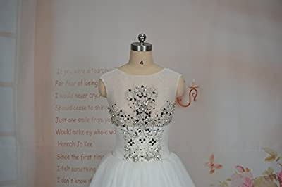 Upscale High End Custom Made Export Princess Exquisite Beading Open Back Illusion Tulle Bridal Gown Made to Measure