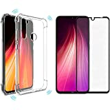 KIT Case Redmi note 8 + Película Redmi Note 8 3D Full Cover - Lançamento - Ya