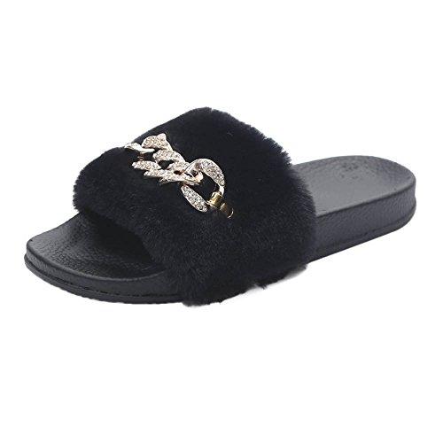 Della Donna,molle Piattaforma Delle Pelliccia Inverno Di Pantofole Nero  Culater® Peluche Molle Signore SfgBnx 1ebe803348e