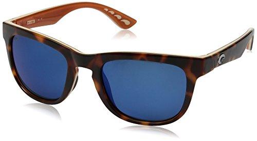 Costa Copra Sunglasses Shiny Retro Tort/Cream/Salmon Blue Mirror