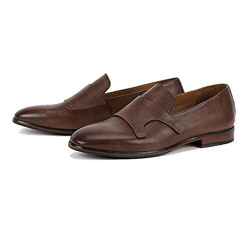Décontractée Coffeecolor Chaussures Paresseux en Conduisant Jeunes Cuir des Mode LYZGF Confortables Hommes wCqF4xAf