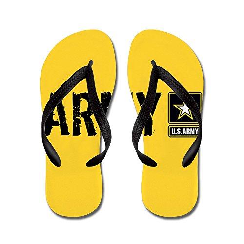 Esercito: Esercito (oro) - Infradito, Sandali Infradito Divertenti, Sandali Da Spiaggia Neri