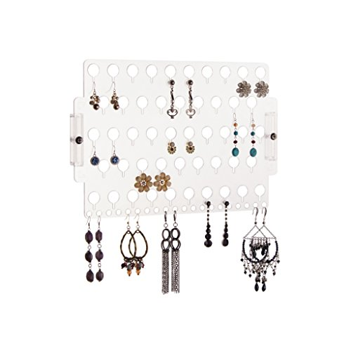 Earring Holder Organizer Wall Mount Jewelry Organizer Hanging Closet Storage Rack, Earring Angel Clear by Angelynn's Jewelry Organizers