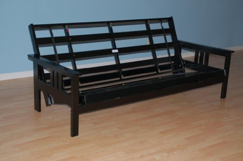 Monterey Futon Frame in Black Finish (Black Futon Frame compare prices)